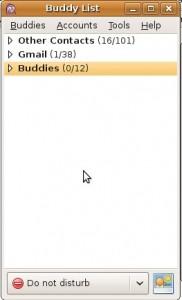 Pidgin Buddy List