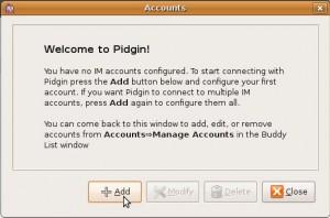 Pidgin add account