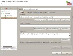 Screenshot-External Tools Configurations