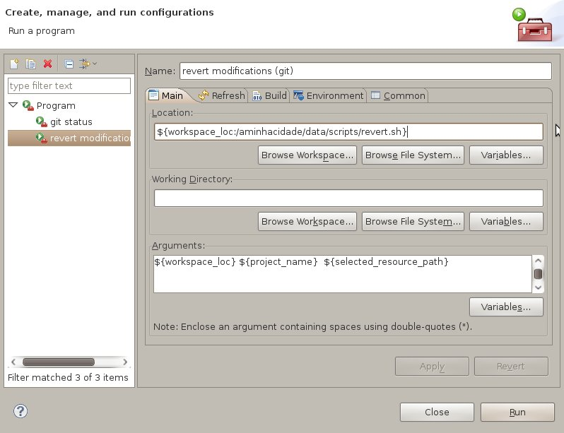 Screenshot-External Tools Configurations